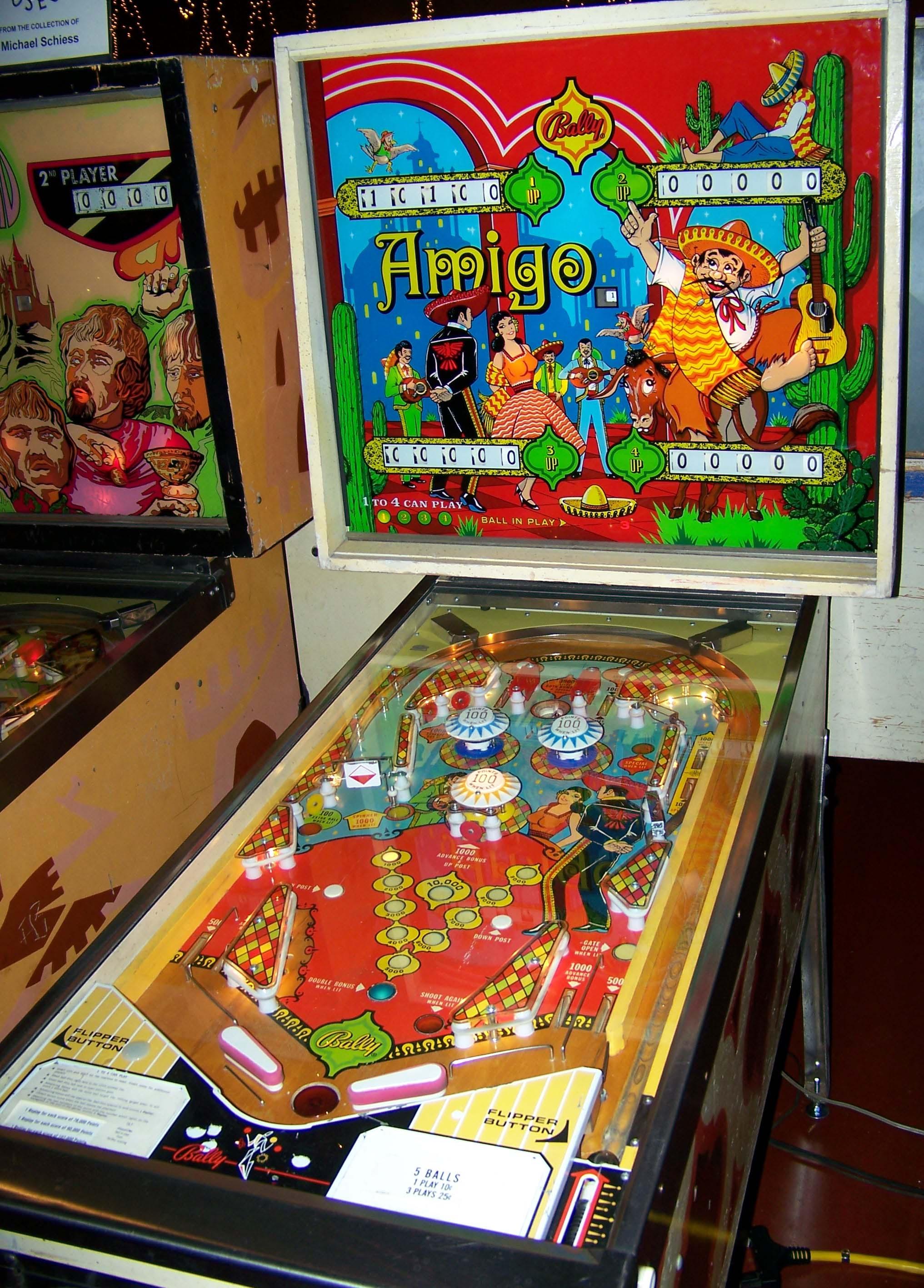 "1973 Amigo ""Bally "" Pinball Machine Pinball art, Pinball"